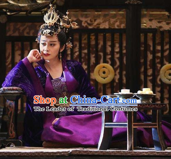 Nirvana in Fire Chinese Ancient Liang State Empress Xun Embroidered Replica Costume for Women