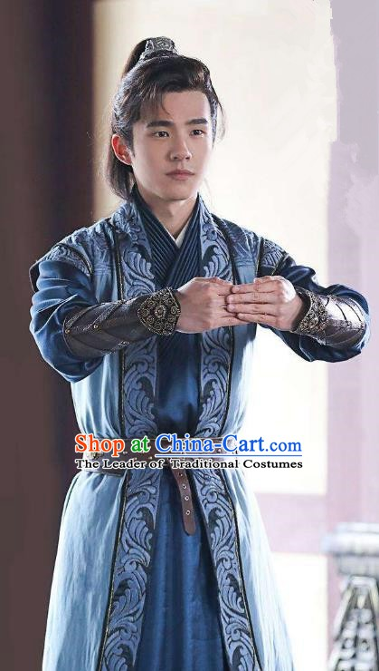 Nirvana in Fire Chinese Ancient Liang State Young Swordsman Xiao Pingjing Replica Costume for Men