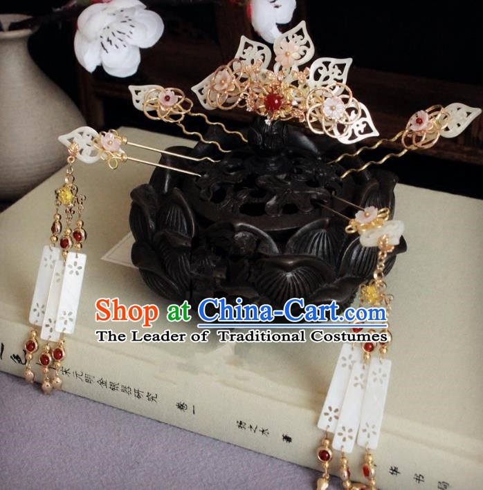 Chinese Handmade Classical Hair Accessories Wedding Hairpins Hanfu Shell Phoenix Coronet Complete Set for Women