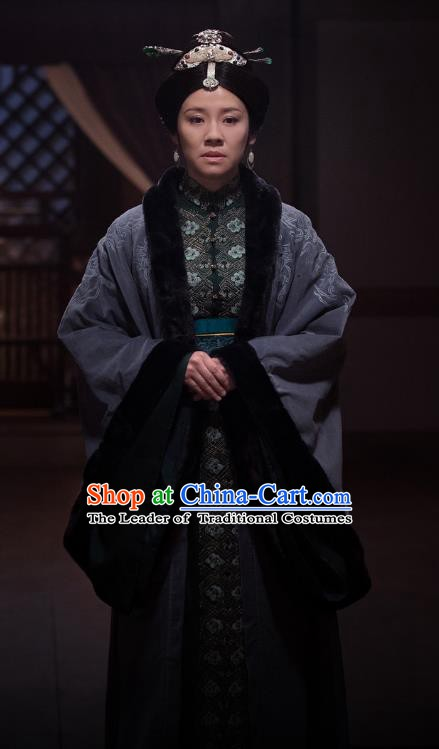 Nirvana in Fire Chinese Ancient Dowager Countess Embroidered Replica Costume for Women