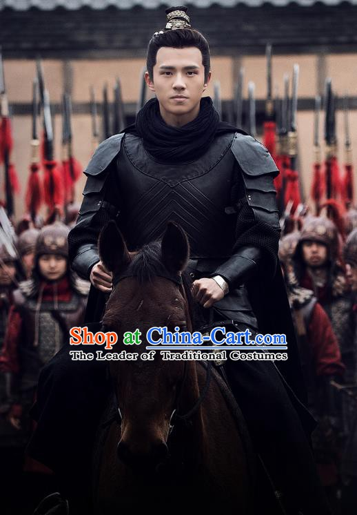 d3a648dce Nirvana in Fire Chinese Ancient Young General Replica Costume Knight-errant  Helmet and Armour for Men
