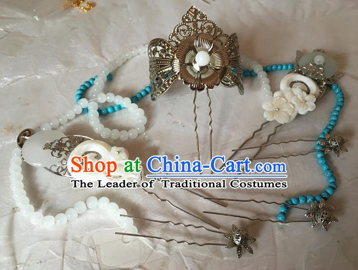 Traditional Chinese Ancient Princess Hair Accessories Hairpins Complete Set for Women