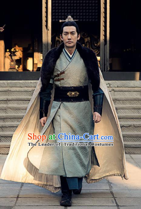 Nirvana in Fire Chinese Ancient Liang State Imperial Guards Commander Xun feizhan Replica Costume for Men