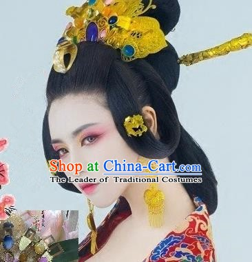 Traditional Chinese Ancient Palace Lady Hair Accessories Hairpins Phoenix Coronet Complete Set for Women