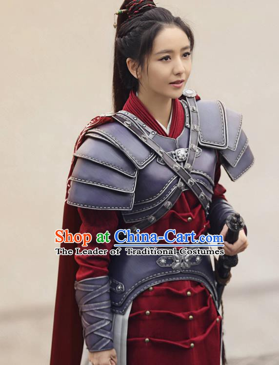 26052ebc7 Chinese Ancient Nirvana in Fire Female General Meng Qianxue Replica Costume  Helmet and Armour for Women
