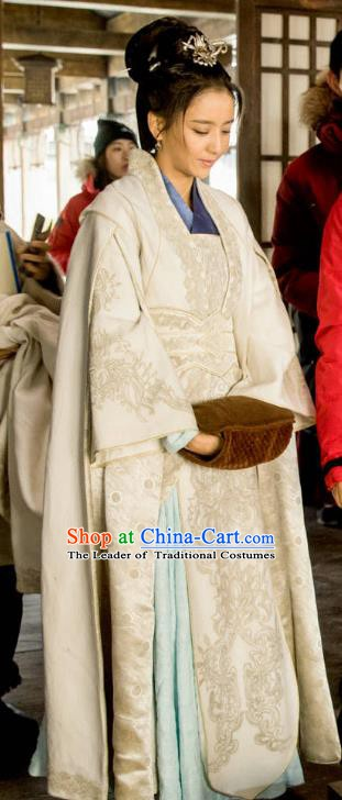 Chinese Ancient Nirvana in Fire General Countess Meng Qianxue Embroidered Replica Costume for Women