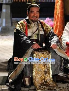 Chinese Ancient Tang Dynasty Minister General Luo Yi Replica Costume for Men