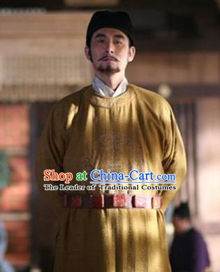Chinese Ancient Tang Dynasty Minister Pei Ji Replica Costume for Men