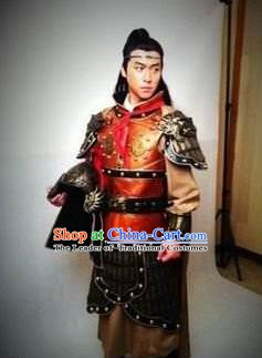 Chinese Ancient Tang Dynasty General Qin Huaiyu Replica Costume for Men