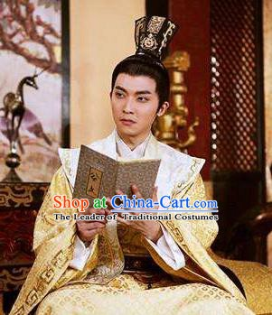 Chinese Ancient Tang Dynasty Crown Prince Li Chongjun Embroidered Replica Costume for Men