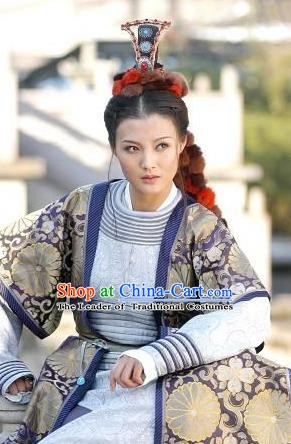 Chinese Ancient Tang Dynasty Princess Ankang Replica Costume for Women