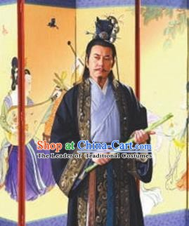 Chinese Ancient Emperor Xuanzong of Tang Dynasty Li Longji Replica Costume for Men