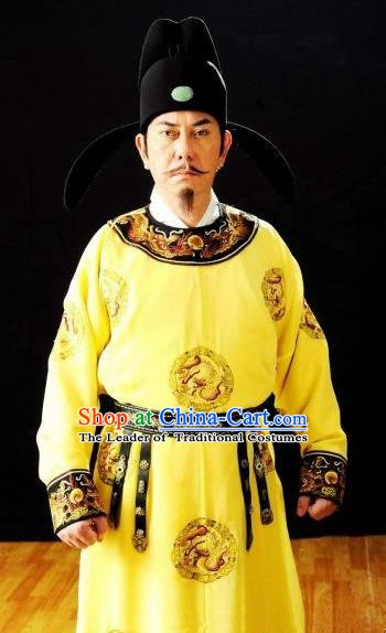 Chinese Ancient Tang Dynasty Emperor Xuanzong Li Longji Replica Costume for Men