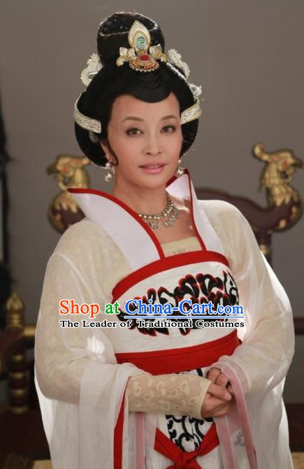 Chinese Ancient Empress Tang Dynasty Queen Wu Zetian Embroidered Replica Costume for Women