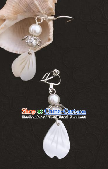 Traditional Chinese Ancient Jewelry Accessories Shell Earrings Eardrop for Women