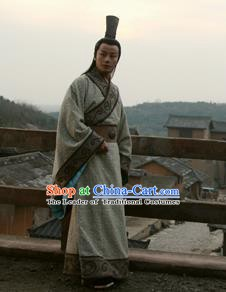 Chinese Ancient Han Dynasty Minister Replica Costume for Men
