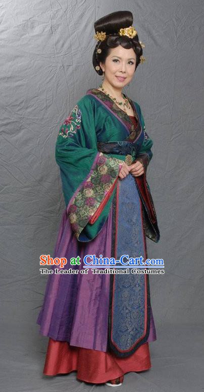 Traditional Chinese Tang Dynasty Court Officials Hanfu Dress Ancient Las Meninas Replica Costume for Women