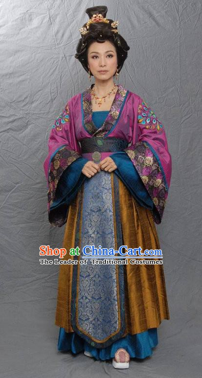 Chinese Tang Dynasty Las Meninas Hanfu Dress Ancient Court Maid Replica Costume for Women
