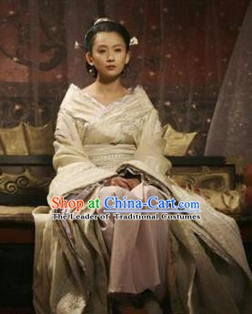Traditional Chinese Han Dynasty Princess Lv Ying Hanfu Dress Ancient Palace Lady Replica Costume for Women