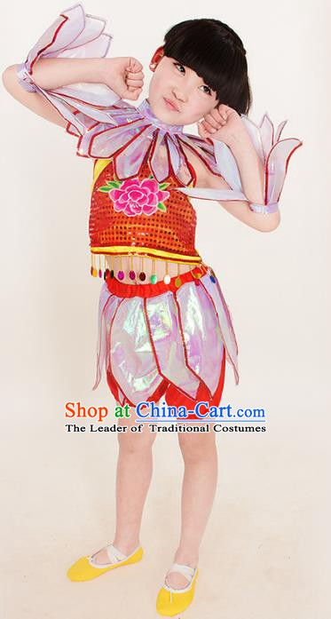 Top Grade Stage Performance Dance Costume, Professional Cosplay Lotus Lad Ne Zha Clothing for Kids