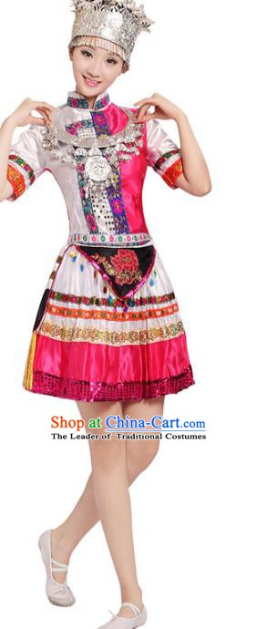 Traditional Chinese Ethnic Costume Chinese Miao Minority Nationality Dance Clothing for Women