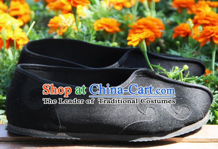 Chinese Traditional Handmade Cloth Shoes Martial Arts Shoes Kung Fu Shoes for Men