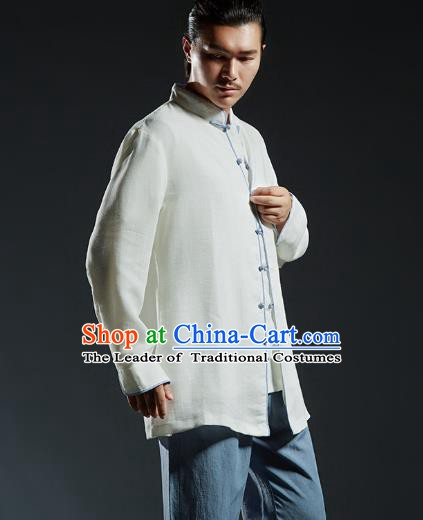 Chinese Kung Fu Costume Plated Buttons Shirts Martial Arts Gongfu Wushu Tang SuitsTai Chi Clothing for Men