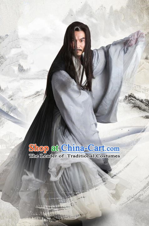 Chinese Ancient Three Kingdoms Period Swordsman Li Quan Replica Costume for Men