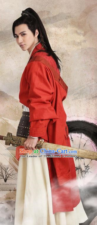 Chinese Ancient Three Kingdoms Period Shu Kingdom Swordsman General Liu Shen Replica Costume for Men