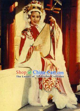 Chinese Ancient Han Dynasty Beauty Wang Zhaojun Hanfu Dress Replica Costume for Women