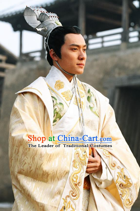 Chinese Ancient Warring States Time Yan Country Prince Dan Replica Costume for Men