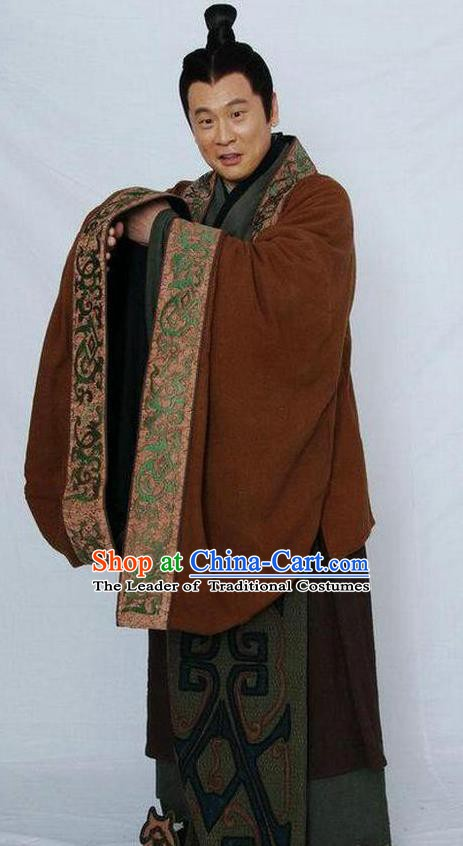 Chinese Ancient Qin Dynasty Prime Minister Zhao Gao Replica Costume for Men