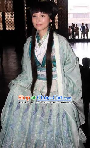 Traditional Chinese Ancient Costume Qin Dynasties Hanfu Clothing