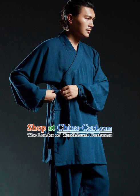Top Kung Fu Costume Martial Arts Kung Fu Training Uniform Gongfu Shaolin Wushu Tang Suit Clothing for Men