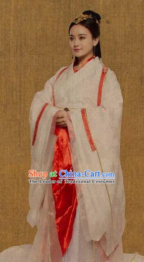 Traditional Chinese Ancient Chu Kingdom Princess Dress Embroidered Replica Costume for Women