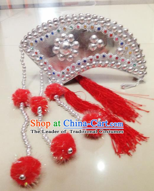 Traditional Chinese Yi Nationality Dance Hair Accessories Hmong Ethnic Minority Headwear for Women