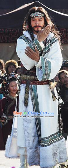 Traditional Chinese Ancient King of Yiqu State Replica Costume for Men