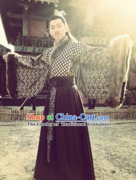 Traditional Chinese Ancient Qin State Politician Diplomat Su Qin Replica Costume for Men