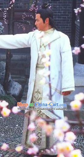 Traditional Chinese Ancient Chunqiu Period Jin State Prince Shen Sheng Replica Costume for Men