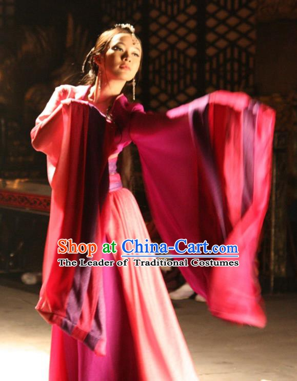 Chinese Ancient Shang Dynasty Imperial Concubine Da Ji Hanfu Embroidered Replica Costume for Women