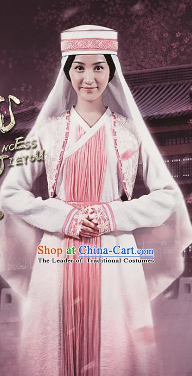 Chinese Ancient Han Dynasty Western Regions Maidservant Replica Costume for Women