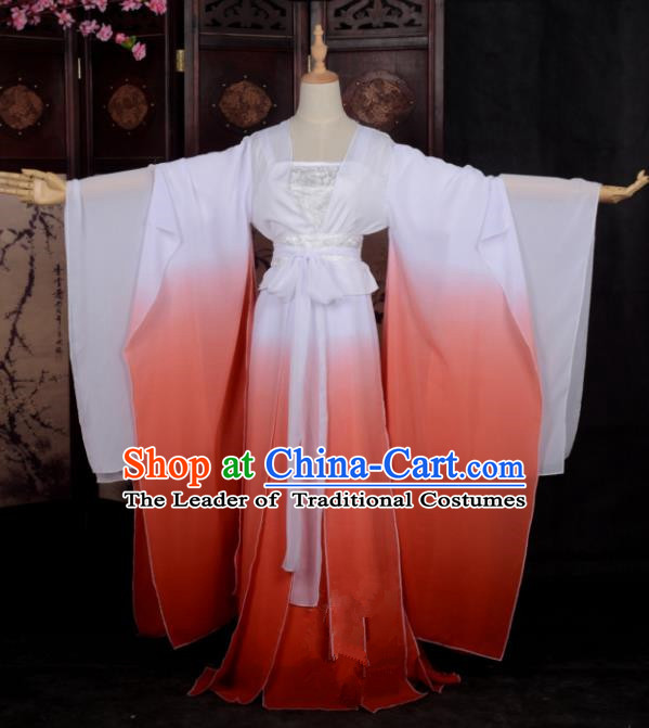 Chinese Ancient Palace Princess Costume Cosplay Female Swordsman Red Dress Hanfu Clothing for Women