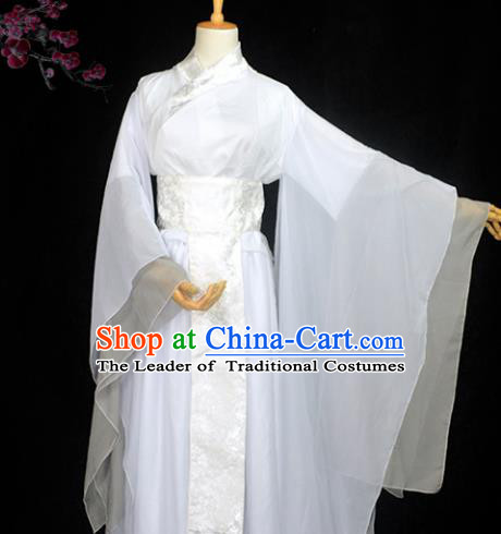 Chinese Ancient Fairy Young Lady Costume Cosplay Female Swordsman Little Dragon Maiden Dress Hanfu Clothing for Women