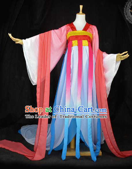 Chinese Ancient Fairy Young Lady Costume Cosplay Female Swordsman Princess Dress Hanfu Clothing for Women