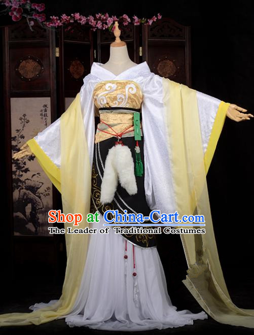 Chinese Ancient Palace Princess Costume Cosplay Tang Dynasty Swordswoman Dress Hanfu Clothing for Women