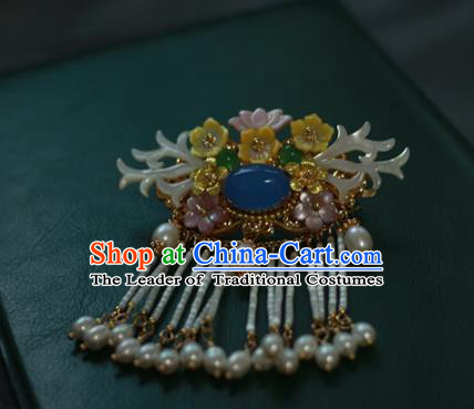 Traditional Chinese Ancient Tassel Hair Stick Classical Hair Accessories Handmade Hairpins for Women