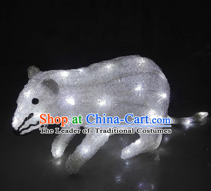 Traditional Handmade Chinese Zodiac Rat Electric LED Lights Lamps Lamp Decoration