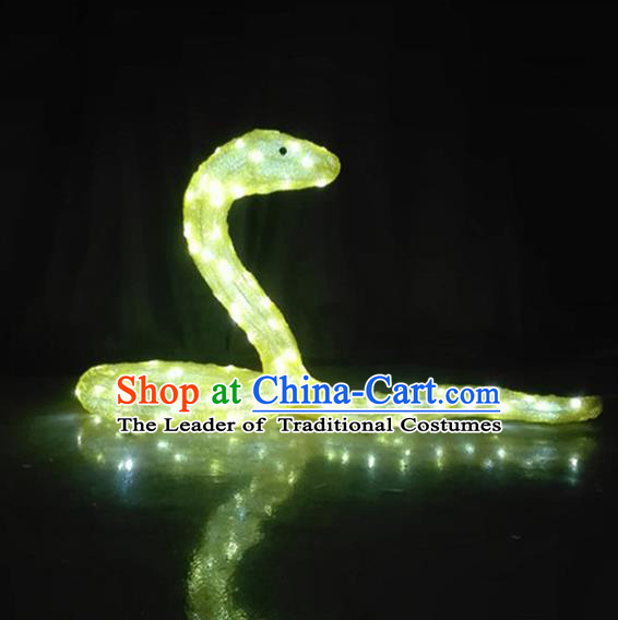 Traditional Handmade Chinese Zodiac Snake Electric LED Lights Lamps Lamp Decoration