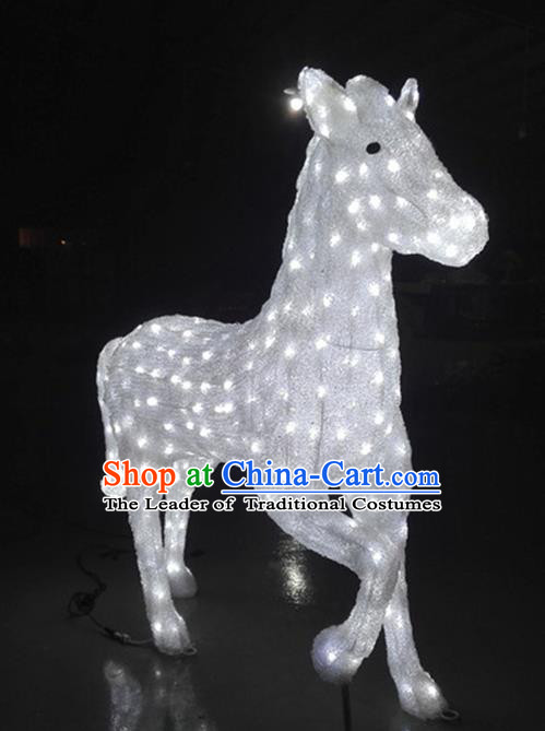 Traditional Handmade Chinese Zodiac Horse Electric LED Lights Lamps Lamp Decoration