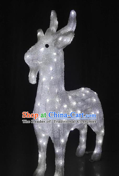 Traditional Handmade Chinese Zodiac Sheep Electric LED Lights Lamps Lamp Decoration